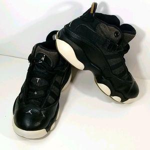 Kids Nike JORDAN 6 RINGS AUTHENTIC Blk/Slvr/Wh